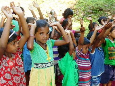 Christian KKC Sunday school was started up in the mountain village Punjapai in India