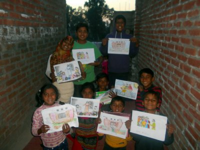 Painting contributions by Kingdom Kids Club i G-city Paksitan