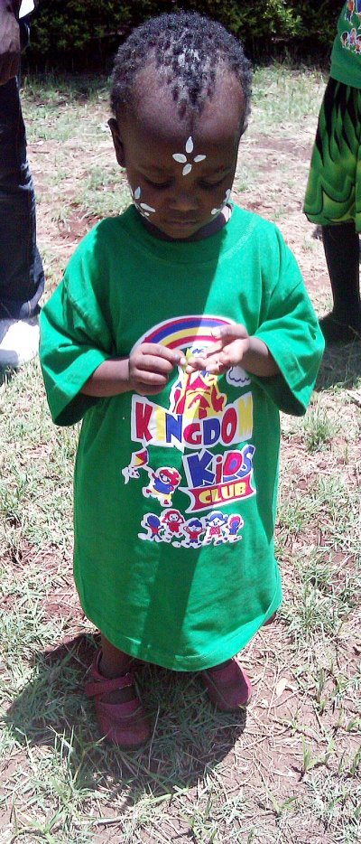 Kingdom Kids Club girl in Kibera Nairobi Kenya Africa