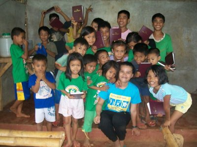 The members of Kingdom Kids Club in Tanngub mountains have received bibles from a blessed donor