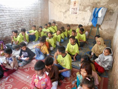 Christian Sunday school by Kingdom Kids Club in Pakistan