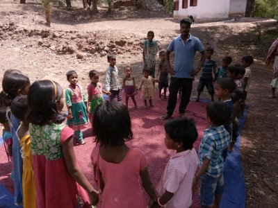 KKC kids in Punjapai singing Christan songs together