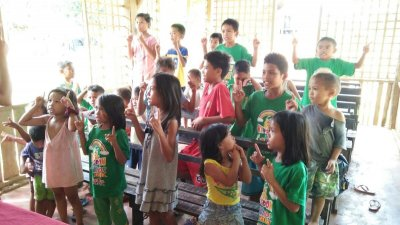 Singing Christian songs together in KKC