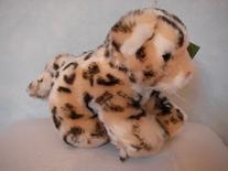 Snöleopard, sittande, 18cm