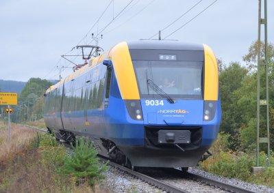 första klass blå tåget