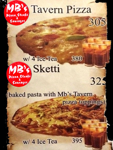 MB's Pizza - MB's Sketti