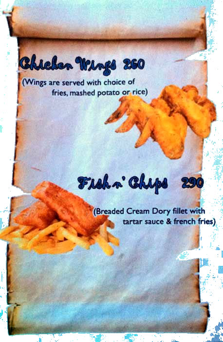 Chiken wings Fish Chips