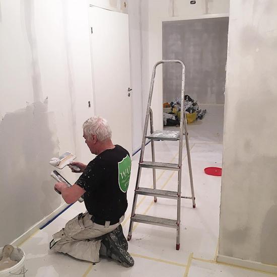 Walls målare i Stockholm arbetar
