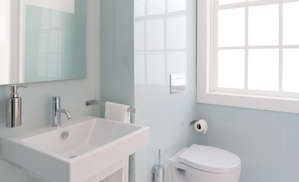 nymålat badrum