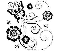Inkadinkado - Stämplar - Butterfly Scrolls