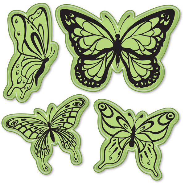 Inkadinkado - Stämplar - Butterflies