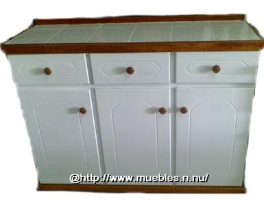 Mueble Base De Cocina Blanco Fino Mc10