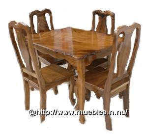 Juego de comedor cenisaro mesa redonda 4 sillas jc03 for Juego de comedor redondo 4 sillas