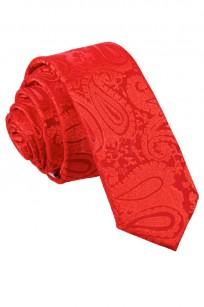 Mönstrad röd smal slips