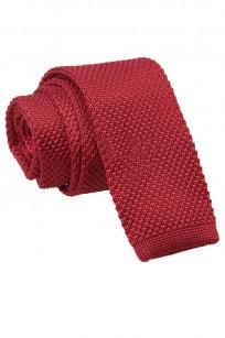 Mörkröd stickad slips