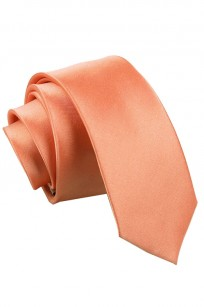 Korallfärgad smal slips