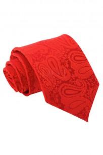 Mönstrad röd slips