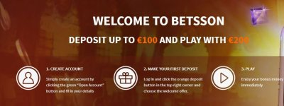 Betsson's welcome bonus package.