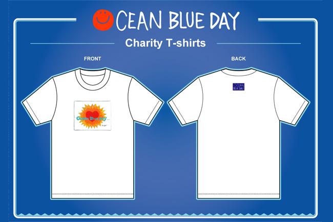 『OCEAN BLUE DAY』のチャリティーTシャツ
