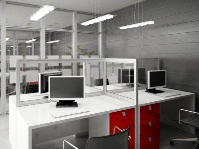 این نوع از پارتیشن اداری بصورت تک جداره و با ارتفاع 1.5 متر طراحی شده است