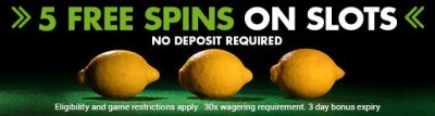Stan James casino gives no deposit free spins on sign up