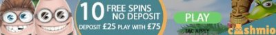 10 FREE SPINS NO DEPOSIT AT NEW ONLINE CASINO