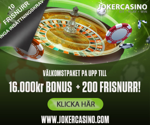 JOKER CASINO GIVES 10 NO DEPOSIT FREE SPINS