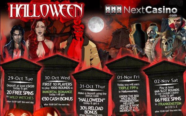 Halloween firande hos online casinot Next Casino!