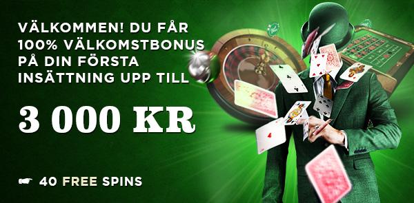 Online casinot MrGreen bjuder på 40 free spins och 100% casino bonus!