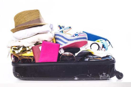 Överfull resväska