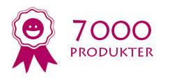 7000 produkter
