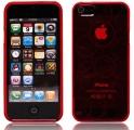 Cirklar Transparent Röd Skal (iPhone 5)