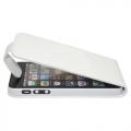 iPhone 5 PU Läderfodral Vit