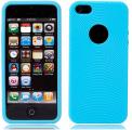 Cirklar Mjuk Silikon Ljus Blå iPhone 5