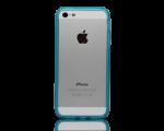 iPhone 5 Bumper Blå Transparent