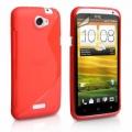 HTC One X Röd S-Line Skal