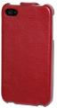 iPhone 4S Läderfodral Handmade Röd