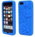 Rosor 3D Motiv Silikon Blå iPhone 5