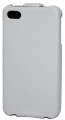 iPhone 4S Läderfodral Handmade Vit