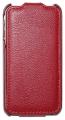 iPhone 4 Läderfodral Handmade Röd
