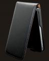 iPhone 4S Läderfodral Slim Svart