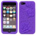 Rosor 3D Motiv Silikon Lila iPhone 5