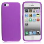 Mjuk Lila Silikon iPhone 5