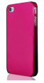 Transparent Plast Rosa iPhone 4