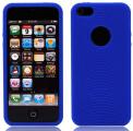 Cirklar Mjuk Silikon Mörk Blå iPhone 5