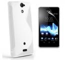 S-Line Vit Sony Xperia V Skal