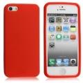 Mjuk Röd Silikon iPhone 5