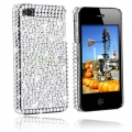 iPhone 4S Bling Bling Skal Vit/Silver