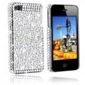 iPhone 4S Bling Bling Skal Vit/Silver