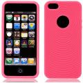 Cirklar Mjuk Silikon Rosa iPhone 5 Skal